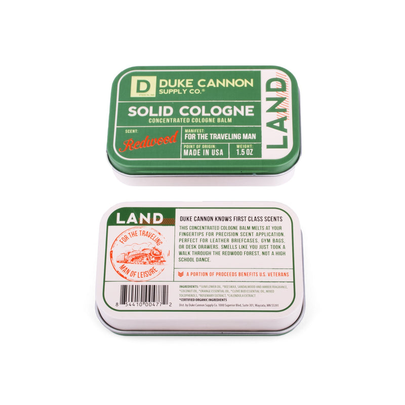 Solid Cologne - Land Solid Cologne Duke Cannon Supply Co. - Strivezy