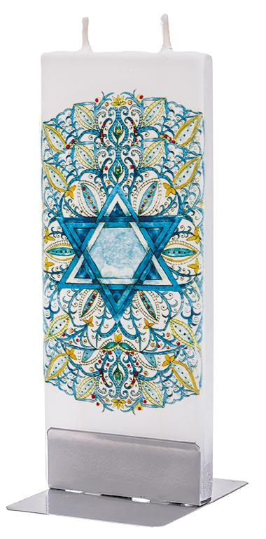 Star Of David Flat Candle Flat Candle Flatyz - Strivezy