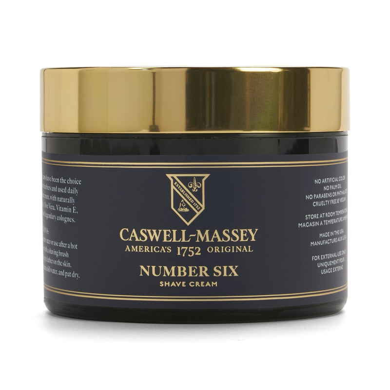 Supernatural Number Six Shave Cream Jar 8 oz Caswell-Massey - Strivezy