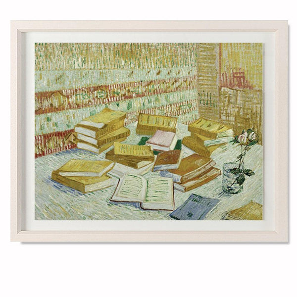 "The Parisian Novels (The Yellow Books), 1887 Smith & Co Galleries 28"" x 23"" Cream 5mm Luxe Floated - Strivezy"