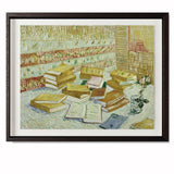"The Parisian Novels (The Yellow Books), 1887 Smith & Co Galleries 28"" x 23"" Modern Wood 5mm Luxe Floated - Strivezy"