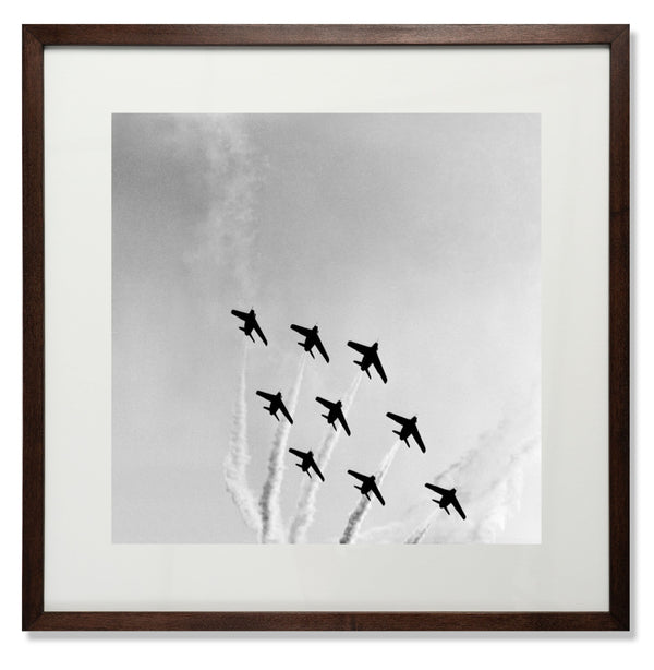 "The Red Arrows Smith & Co Galleries 24"" x 24"" Modern Wood 5mm Luxe Floated - Strivezy"