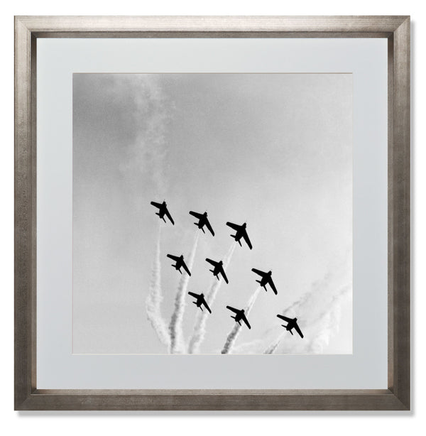 "The Red Arrows Smith & Co Galleries 24"" x 24"" Warm Silver 5mm Luxe Floated - Strivezy"