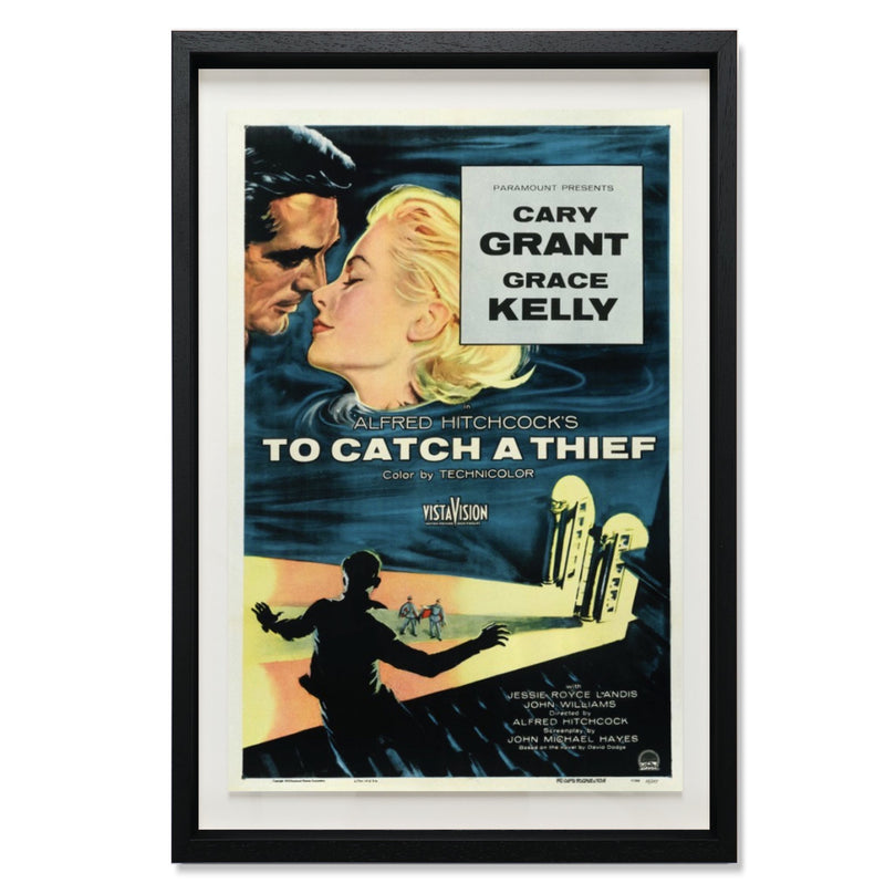 "To Catch A Thief Smith & Co Galleries 28"" x 40"" Black 5mm Luxe Floated - Strivezy"
