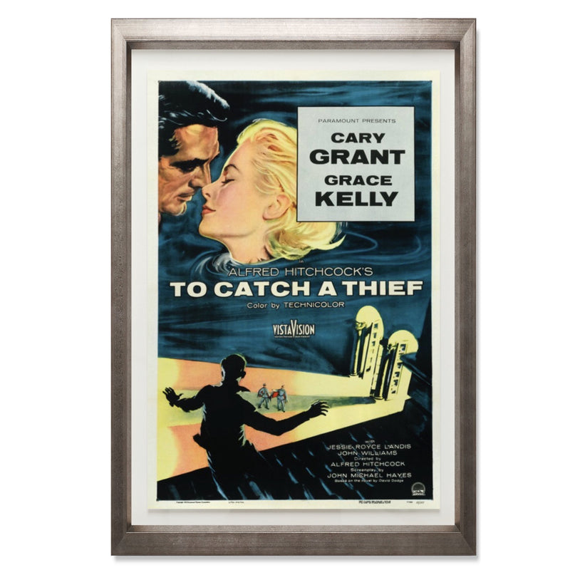"To Catch A Thief Smith & Co Galleries 28"" x 40"" Warm Silver 5mm Luxe Floated - Strivezy"