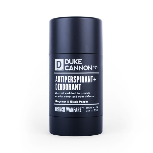 Trench Warfare Antiperspirant + Deodorant - Bergamot & Black Pepper Antiperspirant Duke Cannon Supply Co. - Strivezy