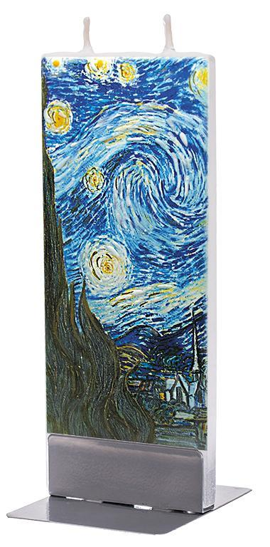 "Van Gogh ""The Starry Night"" Flat Candle Flat Candle Flatyz - Strivezy"