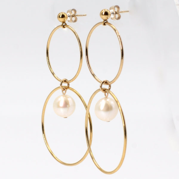 Vaughn Earrings in Gold with White Pearl Maria Kamara Designs - Strivezy