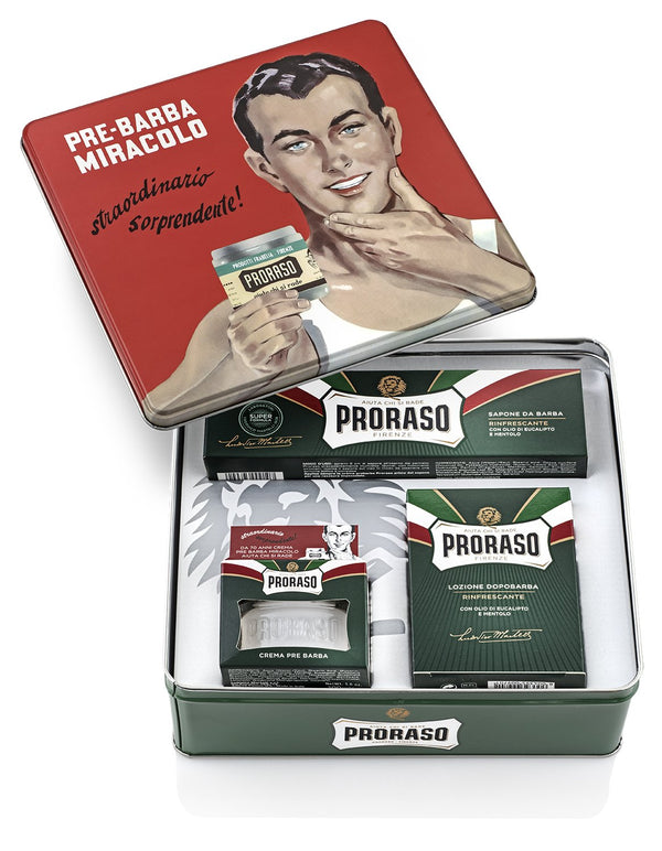 Proraso | Vintage Gino Tin | Refreshing and Toning Classic Formula | Gift Box | Strivezy | Men's Gifts