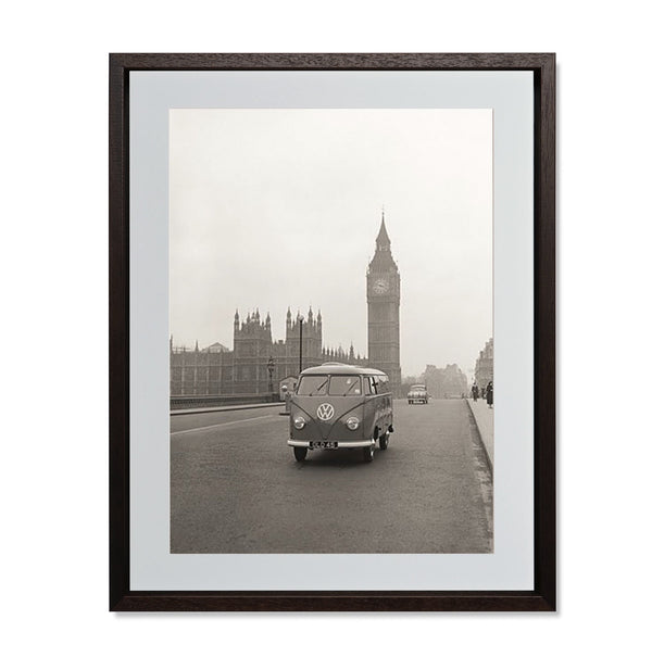 "VW Camper with Big Ben Smith & Co Galleries 18"" x 24"" Modern Wood 5mm Luxe Floated - Strivezy"