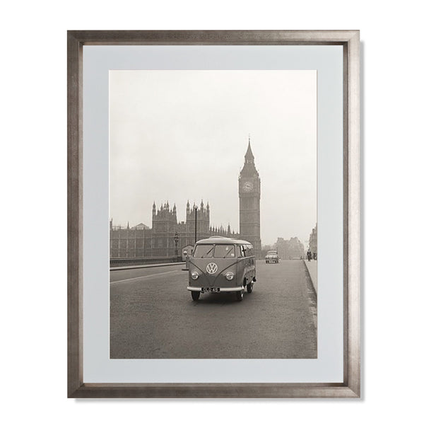 "VW Camper with Big Ben Smith & Co Galleries 18"" x 24"" Warm Silver 5mm Luxe Floated - Strivezy"
