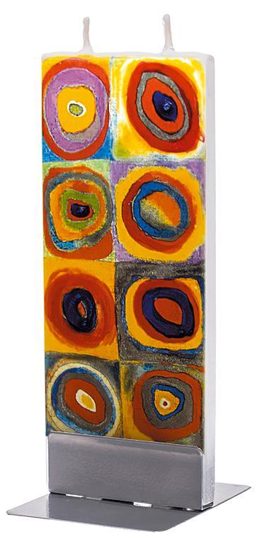 "Wassily Kandinsky ""Color Study: Squares with Concentric Circles"" Flat Candle Flat Candle Flatyz - Strivezy"
