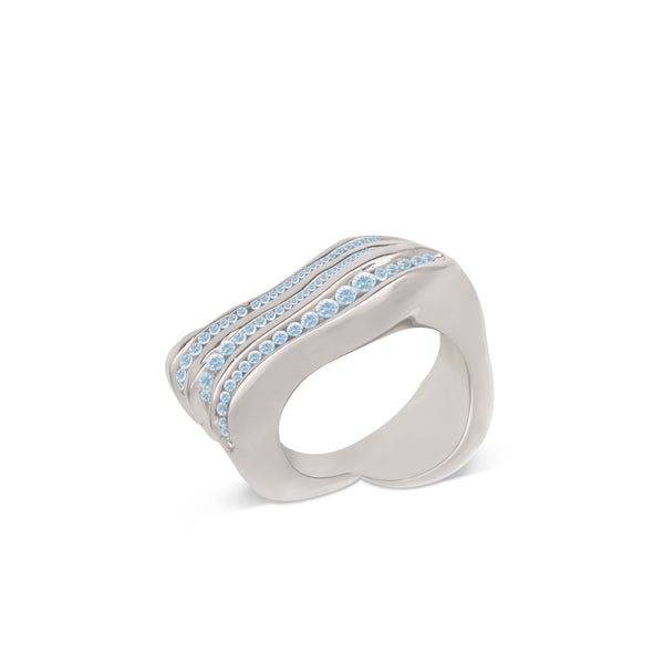 Atelier Orman | Wave Break | Blue Topaz | Ring | Strivezy