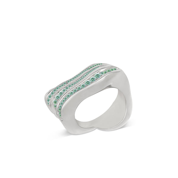 Atelier Orman | Wave Break | Emerald | Ring | Strivezy
