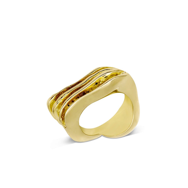 Atelier Orman | Wave Break | Gold | Ring | Strivezy