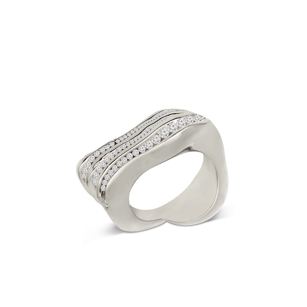 Atelier Orman | Wave Break | White Diamond | Ring | Strivezy
