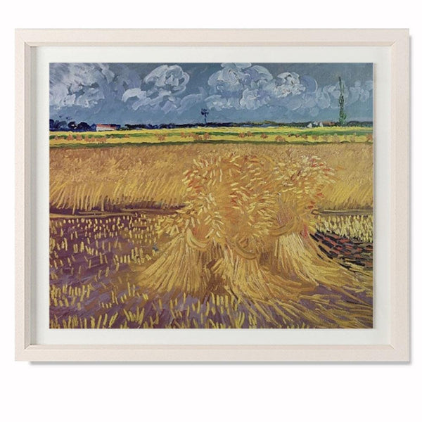 "Wheatfield With Sheaves, 1888 Smith & Co Galleries 28"" x 23"" Cream 5mm Luxe Floated - Strivezy"