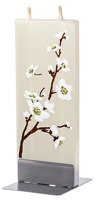 White Cherry Flower Flat Candle Flat Candle Flatyz - Strivezy