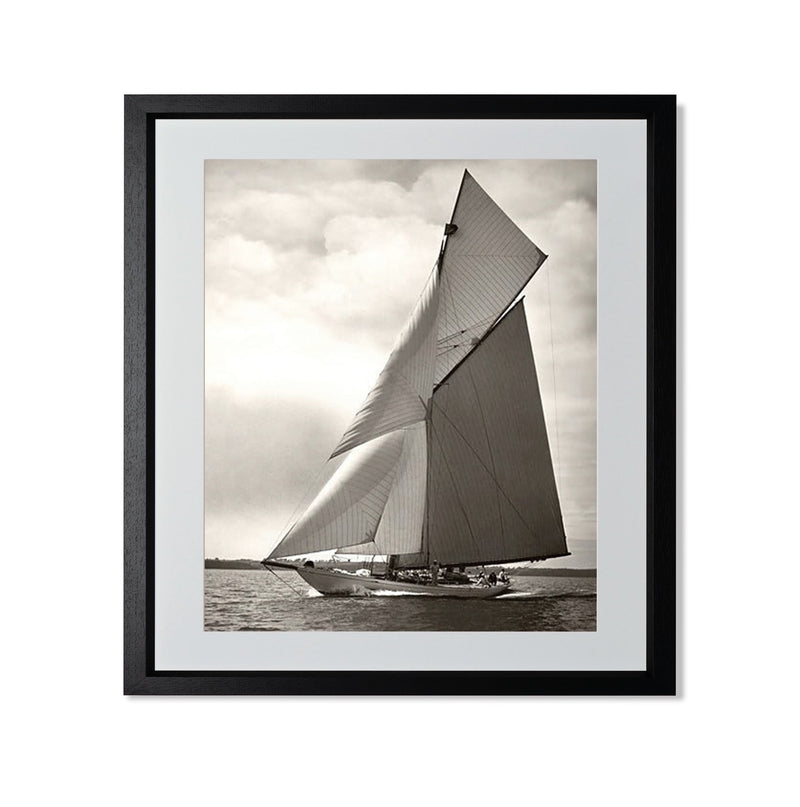 "Yacht Racing I Smith & Co Galleries 20"" x 24"" Black 5mm Luxe Floated - Strivezy"