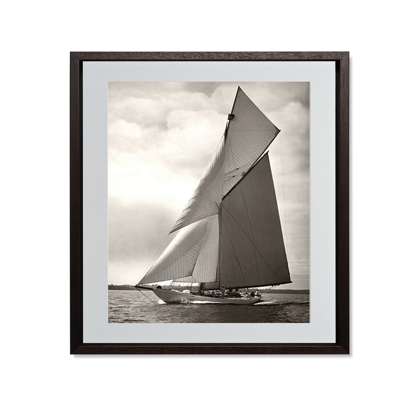"Yacht Racing I Smith & Co Galleries 20"" x 24"" Modern Wood 5mm Luxe Floated - Strivezy"