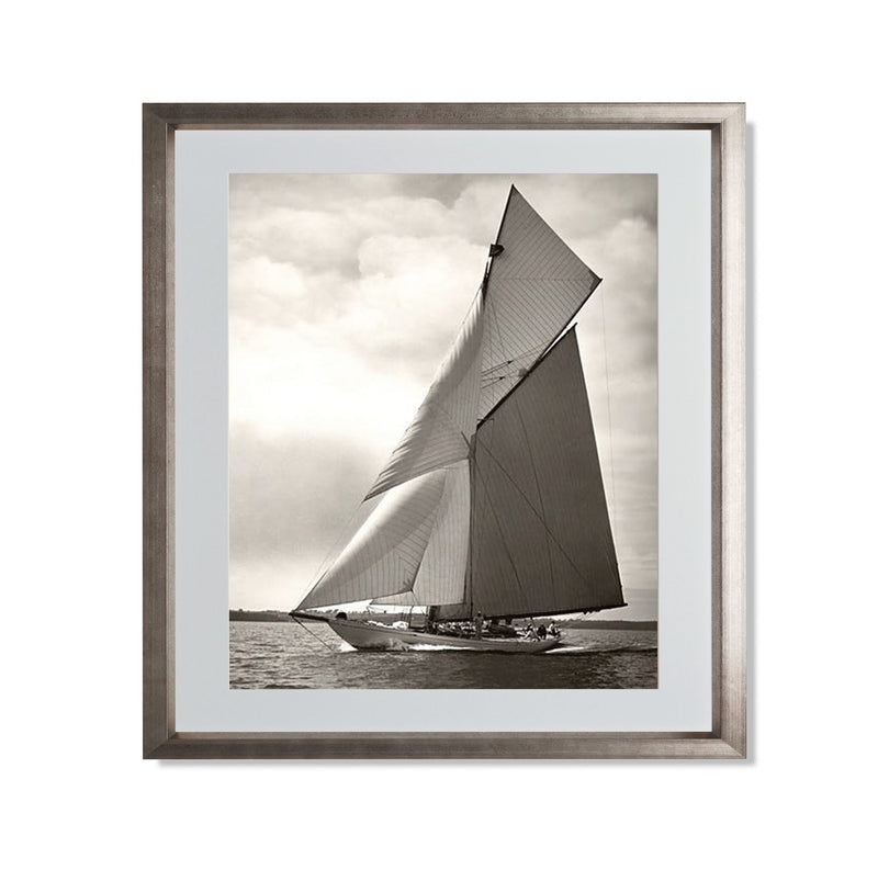 "Yacht Racing I Smith & Co Galleries 20"" x 24"" Warm Silver 5mm Luxe Floated - Strivezy"