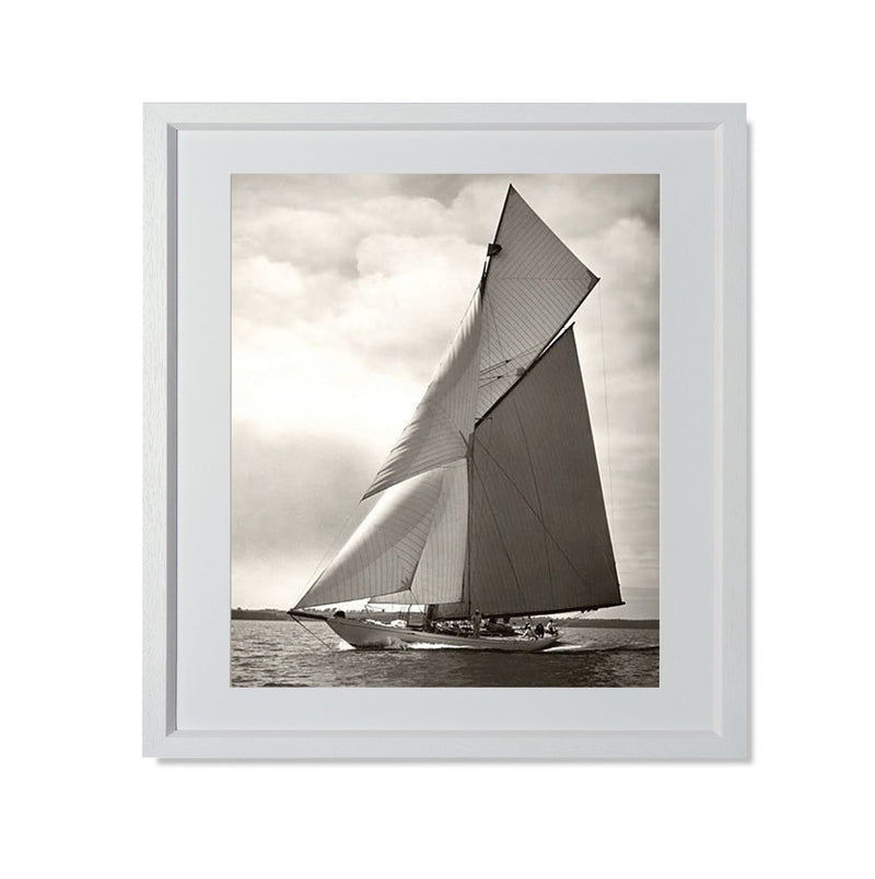 "Yacht Racing I Smith & Co Galleries 20"" x 24"" White 5mm Luxe Floated - Strivezy"