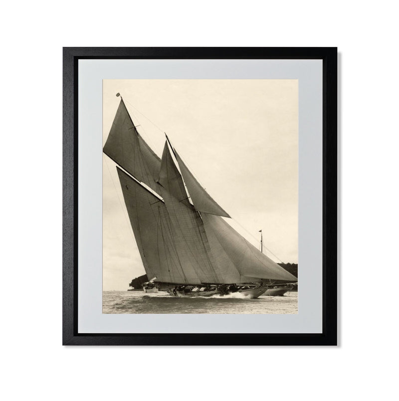 "Yacht Racing II Smith & Co Galleries 20"" x 24"" Black 5mm Luxe Floated - Strivezy"