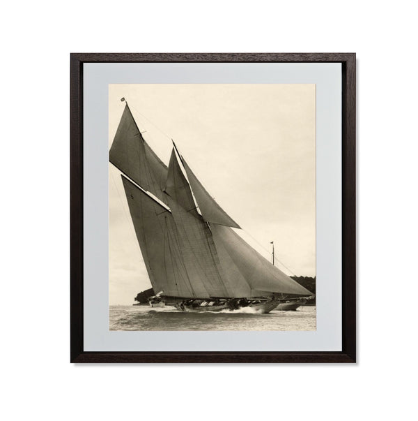 "Yacht Racing II Smith & Co Galleries 20"" x 24"" Modern Wood 5mm Luxe Floated - Strivezy"