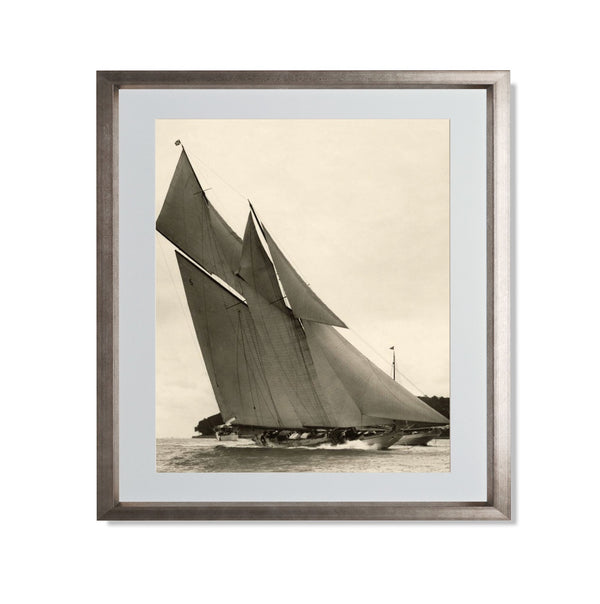 "Yacht Racing II Smith & Co Galleries 20"" x 24"" Warm Silver 5mm Luxe Floated - Strivezy"