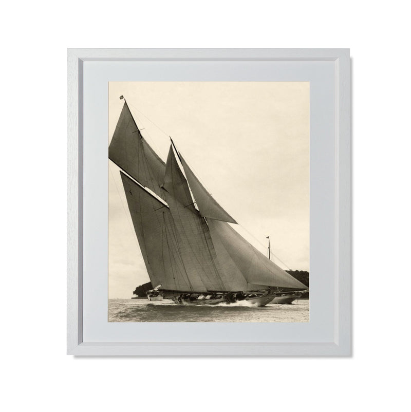 "Yacht Racing II Smith & Co Galleries 20"" x 24"" White 5mm Luxe Floated - Strivezy"