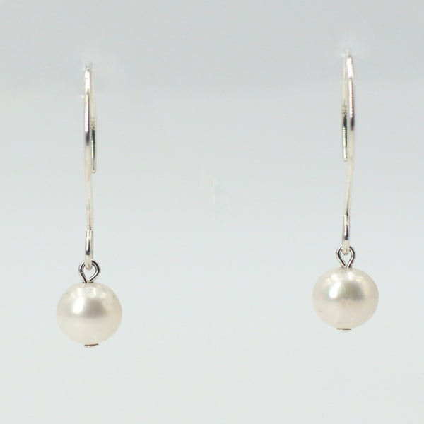 Zoe Earrings in Sterling Silver with White Pearl Maria Kamara Designs - Strivezy