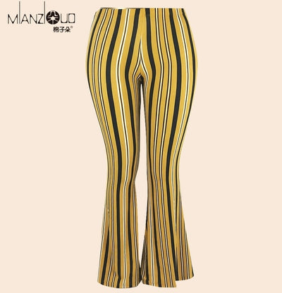 2019 New Design Plus Size High Waist Strength Elastic Wide Hips Flare Bell Bottom Woman Female Causal Leggings Streatwear S-2XL