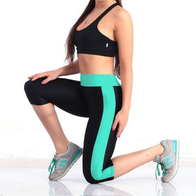 AOSHENG S-5XL Slim Pants Women Workout Out Pocket Leggings Fitness Sport Gym Running Athletic Leggings Plus Size
