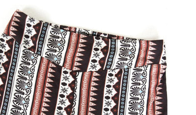2019 Ethnic Geometric Print Flare Pants Women Bohemian Tribal African Print Long Trousers Bell Bottom Leggings Hippie Pants