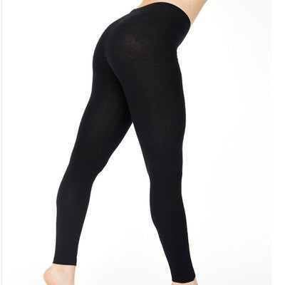 Womens Full Length Cotton High Waist Casual Black Workout Skinny Comfortable Leggings Plus Size