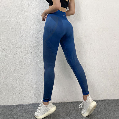 NORMOV Seamless Women Leggings Fitness Striped Print Ankle Length Spandex Legging Workout High Waist Push Up Leggings Plus Size