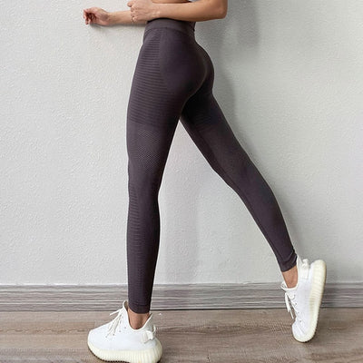 NORMOV Women Fitness Leggings High Waist Elastic Push Up Leggings Workout Leggins Casual Seamless Female Leggings