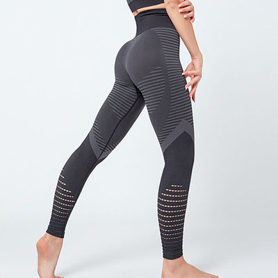 NORMOV Seamless Women Leggings Fitness High Waist Push Up Patchwork Hollow Out Spandex Legging Casual Femme Leggings Feminina