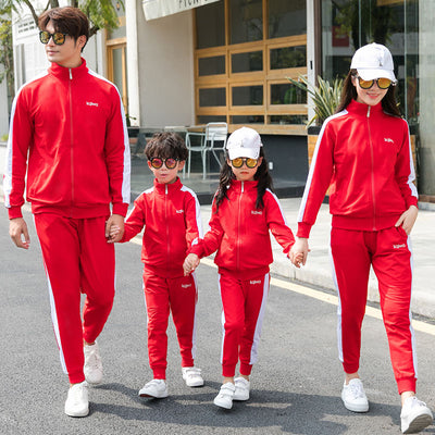 Mother Daughter Jacket Pants Set Family Matching Outfits Spring Autumn Father Son Clothes Set Family Clothing Men Women Children