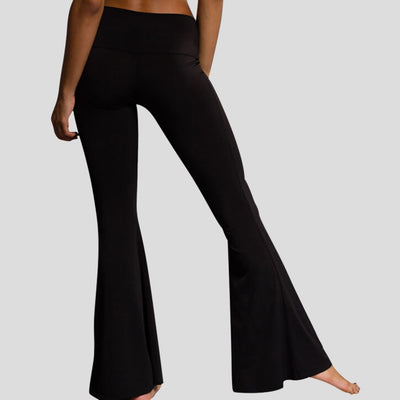 High Waist Flare Pants Women Fashion Womens High Elastic Waist Bell-Bottom Trousers Skinny Casual Pants#s