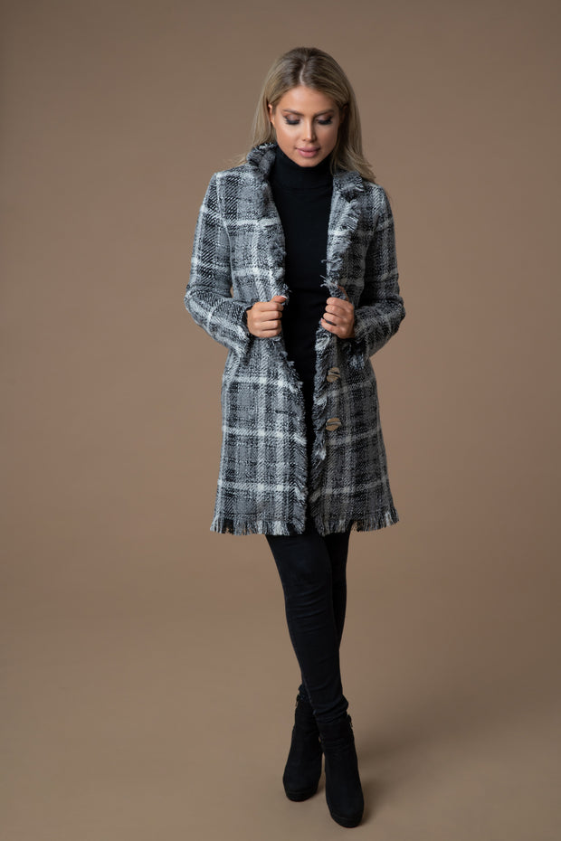 Grey Beauty Tweedmantel Tweedheart Herbst Winter