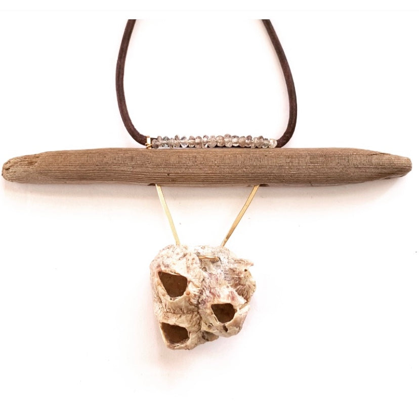 Barnacle Cluster & Driftwood Necklace
