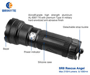 2100+lumens & 1050+m Brinyte SR8 Rescue Angel searchlight