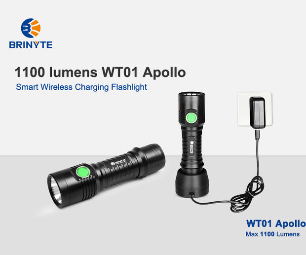 1100+lumens & 320+m Brinyte WT01 Apollo with wireless charging system