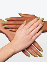 O2M BREATHABLE NAIL ENAMEL 424 OLIVE GREEN