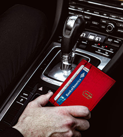 'Rari Red Alligator Cardholder
