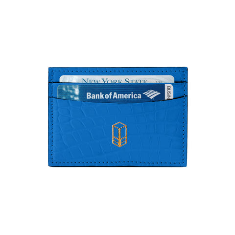Veyron Blue Alligator Cardholder
