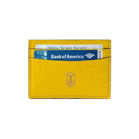 Gadsden Yellow Alligator Cardholder