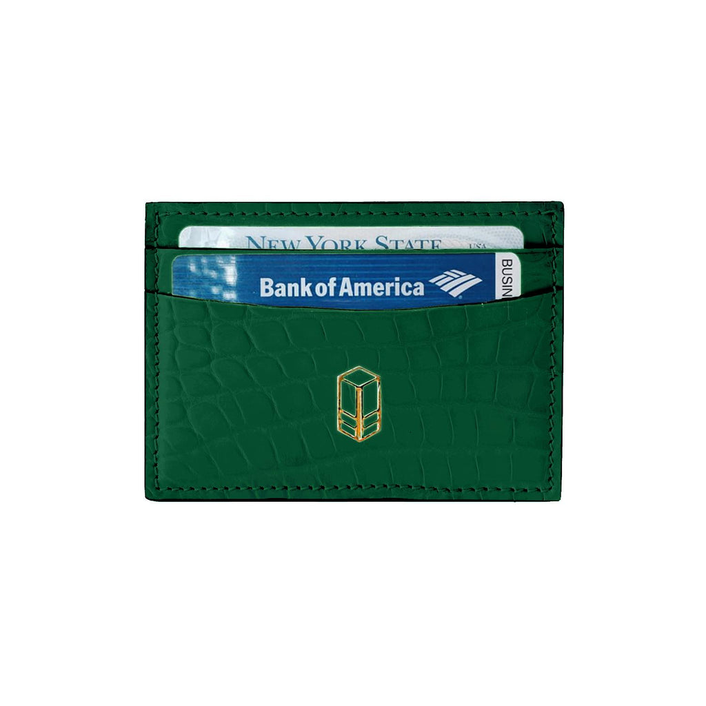 British Racing Green Python Cardholder