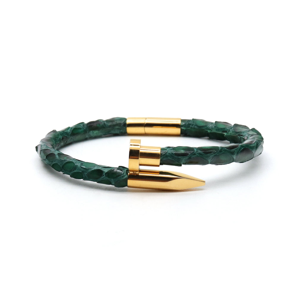 Emerald Clavus Yellow Gold Bracelet